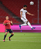 3rd September 2020; Stuttgart, Germany; UEFA Nations League football, Germany versus Spain;  Ilkay Guendogan Ger wins the header from Alcantara Thiago Spain