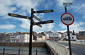 The recently restored harbour at Maryport, Cumbria.