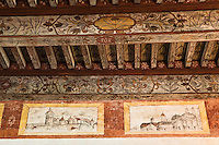 Europe/France/Midi-Pyrénées/46/Lot/Cénevières: le Château-  détail du plafond à la française de la salle d'apparat