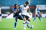 Besiktas Istambul Midfielder Necip Uysal (R) fights for the ball with FC Schalke Forward Bernard Tekpetey (L) during the Friendly Football Matches Summer 2017 between FC Schalke 04 Vs Besiktas Istanbul at Zhuhai Sport Center Stadium on July 19, 2017 in Zhuhai, China. Photo by Marcio Rodrigo Machado / Power Sport Images
