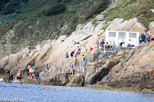 Sea swimming at Dalkey and right along the Dun Laoghaire coast line is now a year round activity