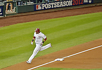 12 October 2012: Washington Nationals outfielder Michael Morse rounds third after hitting a third inning homer during Postseason Playoff Game 5 of the National League Divisional Series against the St. Louis Cardinals at Nationals Park in Washington, DC. The Cardinals stunned the home team with a four-run rally in the 9th inning to defeat the Nationals 9-7 and win the NLDS, moving on to the NL Championship Series. Mandatory Credit: Ed Wolfstein Photo