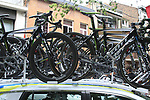 Orica-GreenEdge Scott bikes atop the team car before the start of Stage 2 of the 99th edition of the Tour de France 2012, running 207.5km from Vise to Tournai, Belgium. 2nd July 2012.<br /> (Photo by Eoin Clarke/NEWSFILE)
