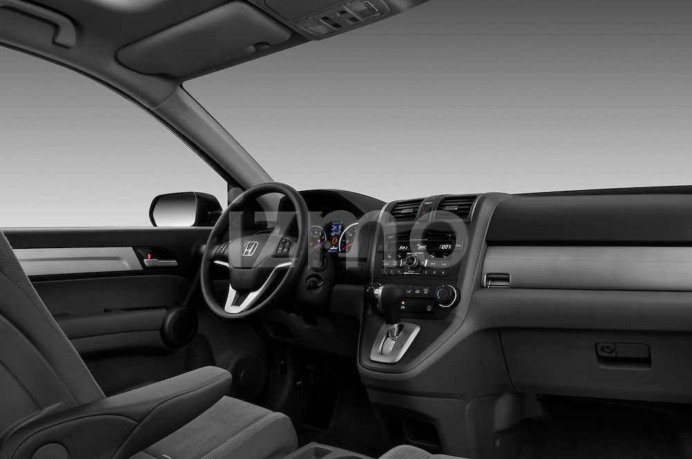 Passenger side dashboard view of a 2010 Honda CRV EX