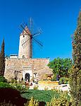 Spanien, Mallorca, Santa Maria del Cami: Restaurant Moli des Torrent   Spain, Mallorca, Santa Maria del Cami: Restaurant Moli des Torrent