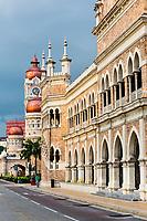 Moorish Architecture. Sultan Abdul Samad Building, former seat of British Colonial Administration. Kuala Lumpur, Malaysia.