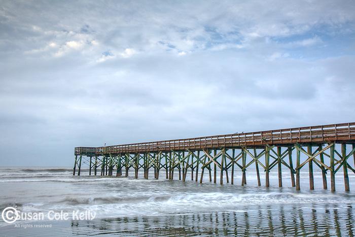 Ocean pier on the Carolina Coast, Isle of Palms, SC