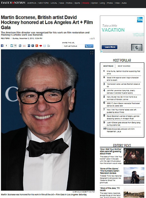 LOS ANGELES, CA - NOVEMBER 02: Martin Scorsese at LACMA 2013 Art + Film Gala held at LACMA on November 2, 2013 in Los Angeles, California. (Photo by Xavier Collin/Celebrity Monitor)