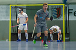 GER - Mannheim, Germany, December 01: During the 1. Bundesliga Sued Herren indoor hockey match between Mannheimer HC (white) and Muenchner SC (grey) on December 1, 2018 at Irma-Roechling-Halle in Mannheim, Germany. Final score 4-4. (Photo by Dirk Markgraf / www.265-images.com) *** Local caption ***