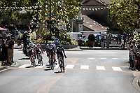 early break away group rolling through town<br /> <br /> 107th Tour de France 2020 (2.UWT)<br /> (the 'postponed edition' held in september)<br /> Stage 4 from Sisteron to Orcières-Merlette 160,5km<br /> ©kramon
