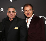 "John Gotti Jr. and Edward Walson attends the Broadway Opening Night of ""King Kong - Alive On Broadway"" at the Broadway Theater on November 8, 2018 in New York City."
