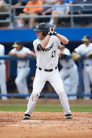 Jonathan Pryor (11) of the Wake Forest Demon Deacons at bat against the Florida Gators in the completion of Game Two of the Gainesville Super Regional of the 2017 College World Series at Alfred McKethan Stadium at Perry Field on June 12, 2017 in Gainesville, Florida. The Demon Deacons walked off the Gators 8-6 in 11 innings. (Brian Westerholt/Four Seam Images)