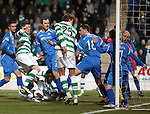 St Johnstone v Celtic...18.12.11   SPL .Gary Hooper scores the opening goal.Picture by Graeme Hart..Copyright Perthshire Picture Agency.Tel: 01738 623350  Mobile: 07990 594431