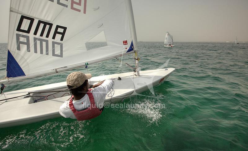Team Oman Sail in Bahrain ready for the GCC Gulf Championships. 5 sailors, representing Oman in 3 different sailing disciplines. The Laser Standard, Radial & 4.7. .Senior Team.Laser Standard:.Ahmed Al Mashari.Laser Radial:.Musaab Al Hadi.Ahmed Al Wahaibi.Youth Team.Laser 4.7:.Ahmed Mashari.Yaarub Al Jabri.