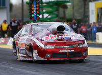 Mar 13, 2015; Gainesville, FL, USA; NHRA pro stock driver Greg Anderson during qualifying for the Gatornationals at Auto Plus Raceway at Gainesville. Mandatory Credit: Mark J. Rebilas-