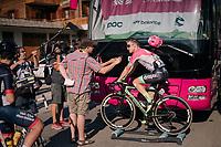 Simon Clarke's (AUS/Education First-Drapac) post-race warm-down interview<br /> <br /> Stage 10: Annecy > Le Grand-Bornand (159km)<br /> <br /> 105th Tour de France 2018<br /> ©kramon