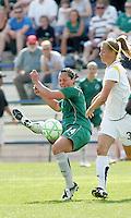 Melissa Tancredi (green), Allison Faulk..Saint Louis Athletica and LA Sol played to a 0-0 tie at Robert Herman Stadium, St Louis, MO.