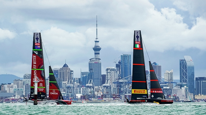 America's Cup contenders at Auckland – it's an abiding and evocative image, but at what cost?