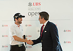 Grégory Bourdy of France visits the UBS Pavilion during the 58th UBS Hong Kong Golf Open as part of the European Tour on 11 December 2016, at the Hong Kong Golf Club, Fanling, Hong Kong, China. Photo by Marcio Rodrigo Machado / Power Sport Images