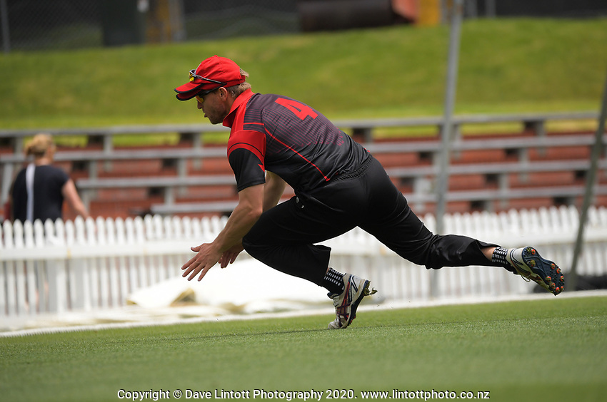 Action from the Sports Emporium Wellington Premier League T20 cricket match between the Cuba Kings and Mt Vic Vikings at the Basin Reserve in Wellington, New Zealand on Friday, 18 December 2020. Photo: Dave Lintott / lintottphoto.co.nz