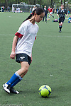 12 year old girl playing soccer