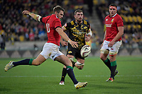 Lions' Dan Biggar in action during the New Zealand Lions Series - Hurricanes v British and Irish Lions at Westpac Stadium, Wellington, New Zealand on Tuesday 27 June 2017.<br /> Photo by Masanori Udagawa<br /> www.photowellington.photoshelter.com.
