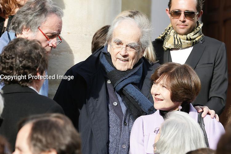 PARIS , EGLISE SAINT PIERRE DU GROS CAILLOU LE 14 / 03 / 2017<br /> OBSEQUES DE PIERRE BOUTEILLER .<br /> MICHEL LEGRAND ET MACHA MERIL