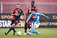 Hirving Lozano of SSC Napoli scores the goal of 1-2 during the Serie A football match between Genoa CFC and SSC Napoli stadio Marassi in Genova ( Italy ), July 08th, 2020. Play resumes behind closed doors following the outbreak of the coronavirus disease. <br /> Photo Matteo Gribaudi / Image / Insidefoto