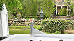 Jessica Lang dance performing in the garden at Kykuit on a July evening