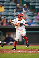 Altoona Curve right fielder Jerrick Suiter (31) at bat during a game against the New Hampshire Fisher Cats on May 11, 2017 at Peoples Natural Gas Field in Altoona, Pennsylvania.  Altoona defeated New Hampshire 4-3.  (Mike Janes/Four Seam Images)