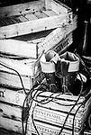 Fisherman's boots on a fishing trawler, Katakolone, Greece