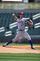 Tennessee Smokies relief pitcher Michael Jensen (17) in action against the Birmingham Barons at Regions Field on May 4, 2015 in Birmingham, Alabama.  The Barons defeated the Smokies 4-3 in 13 innings. (Brian Westerholt/Four Seam Images)