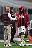 Rafael Leao-Stefano Pioli<br /> Serie A football match between AC Milan and Spezia Calcio at San Siro Stadium in Milano  (Italy), October 4th, 2020. Photo Image Sport / Insidefoto