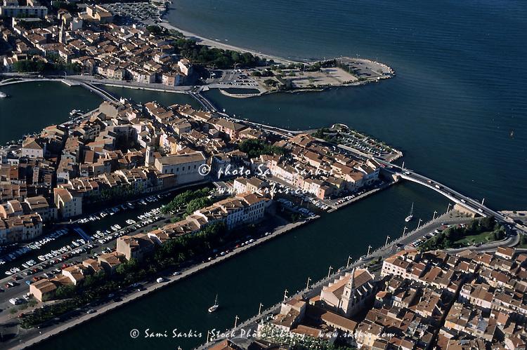 Martigues Vieux Port with Berre Pond, Provence, France.