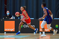 Jada Stinson (10) of Puerto Rico pictured during a basketball game between the national teams of Puerto Rico and Serbia on Sunday 30 th of May 2021 in Kortrijk , Belgium . PHOTO SPORTPIX.BE   SPP   STIJN AUDOOREN