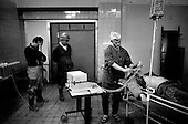 Moscow, Russia.Emergency ward.1994.A patient pronounced dead after suffering a heart attack.