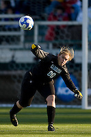 North Carolina Tar Heels goalkeeper Anna Rodenbough (00). The North Carolina Tar Heels defeated the Notre Dame Fighting Irish 2-1 during the finals of the NCAA Women's College Cup at Wakemed Soccer Park in Cary, NC, on December 7, 2008. Photo by Howard C. Smith/isiphotos.com