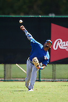 Toronto Blue Jays Freddy Rodriguez (5) during practice before an instructional league game against the Atlanta Braves on September 30, 2015 at the ESPN Wide World of Sports Complex in Orlando, Florida.  (Mike Janes/Four Seam Images)