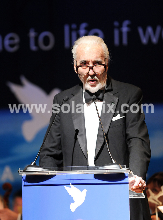 **ALL ROUND PICTURES FROM SOLARPIX.COM**.**SYNDICATION RIGHTS FOR UK AND SPAIN ONLY**.Cinema for Peace Gala 2009 at the Benefit Gala in Berlin...This pic:Christopher Lee ..JOB REF: 8438        CPR/Gottshal        DATE:09.02.09.**MUST CREDIT SOLARPIX.COM OR DOUBLE FEE WILL BE CHARGED**.**ONLINE USAGE FEE  GBP 50.00 PER PICTURE - NOTIFICATION OF USAGE TO PHOTO @ SOLARPIX.COM**