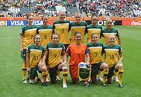 Fifa Women's World Cup Germany 2011 : Brazil - Australia  at Borussia - Park in Munchengladbach : groepsfoto - group picture Australia.foto DAVID CATRY / Vrouwenteam.be