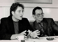 1988 FILE PHOTO - ARCHIVES -<br /> <br /> Actors Kim Coates (l), Dean Stockwell (r)<br /> <br /> 1988<br /> <br /> PHOTO :  Erin Comb - Toronto Star Archives - AQP