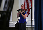 Shannon Litz photographs the ceremony as Gov. Brian Sandoval unveils his official portrait at the Capitol in Carson City, Nev., on Thursday, Oct. 25, 2018. <br /> Photo by Cathleen Allison/Nevada Momentum