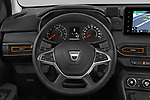 Steering wheel view of a 2021 Dacia Sandero Stepway Plus 5 Door Hatchback