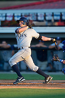 Patrick Grady (39) of the Princeton Rays follows through on his swing against the Burlington Royals at Burlington Athletic Park on July 11, 2014 in Burlington, North Carolina.  The Rays defeated the Royals 5-3.  (Brian Westerholt/Four Seam Images)
