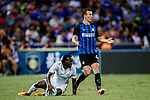 FC Internazionale Forward Ivan Perisic (R) react after faults Chelsea Midfielder Victor Moses (L) during the International Champions Cup 2017 match between FC Internazionale and Chelsea FC on July 29, 2017 in Singapore. Photo by Marcio Rodrigo Machado / Power Sport Images