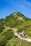 Deutschland, Bayern, Oberbayern, Berchtesgadener Land, Schoenau am Koenigssee: Aufstieg zum Jenner | Germany, Upper Bavaria, Berchtesgadener Land, Schoenau am Koenigssee: climb to Jenner summit