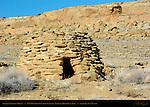 Navajo Sandstone Hogan, North of Chaco Culture National Historical Park, Chaco Canyon, Nageezi, New Mexico