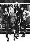 Motley Crue 1983 Nikki Sixx, Vince Neil, Mick Mars and Tommy Lee.© Chris Walter.