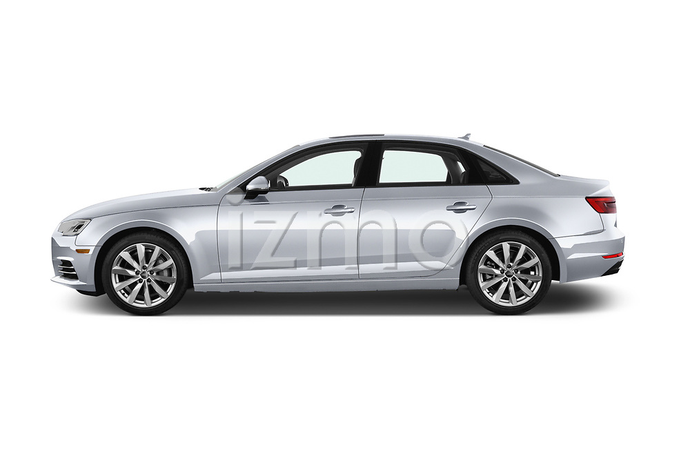 Car driver side profile view of a 2017 Audi A4 Premium 4 Door Sedan