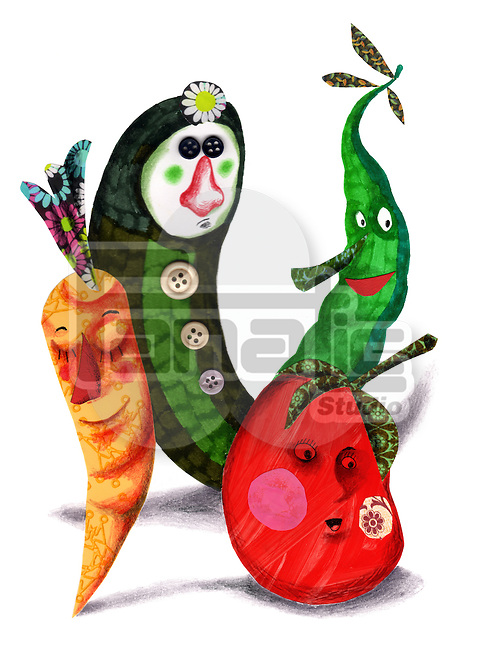 Illustrative image of vegetables representing healthy eating